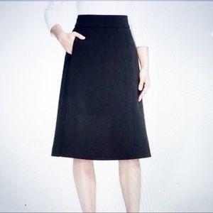 Kate Spade Black A Line Midi Skirt 6 Pockets